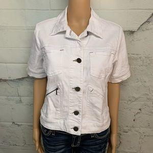 CABI Jeans White Jacket
